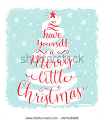 yourself merry greeting stock vector