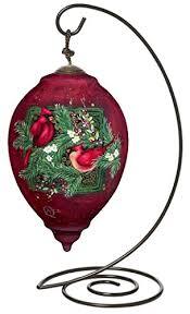 ne u0027qwa princess shaped glass ornament with classic hanging stand