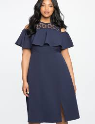 cold shoulder dress cold shoulder dress with lace detail women s plus size dresses