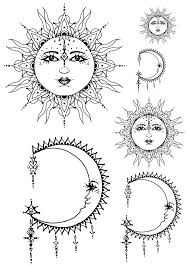sun and moon customed tribal culture by lovetatoo