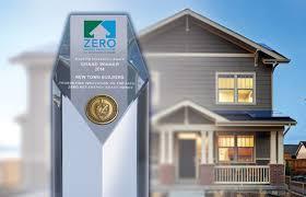 zero net energy homes new town builders award winning zero energy community