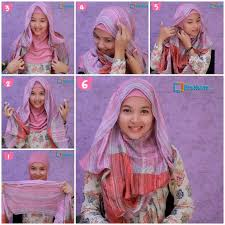 tutorial hijab simple tapi menarik tutorial hijab pashmina simple 1