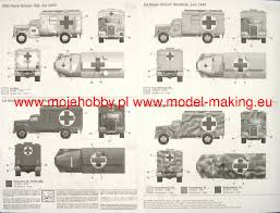 opel blitz maultier kfz 305 ambulance italeri 7055