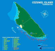 Cozumel Map Dive Palancar Cozumel Diving Snorkeling And Scuba Dive