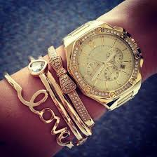 bracelet kors images Jewels bracelets watch gold watch women 39 s watch classy heart jpg