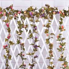 Aliexpresscom  Buy Hanging Garland Artificial Flowers For - Flowers home decoration
