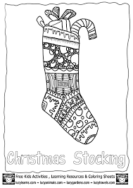 christmas stocking coloring pages coloring