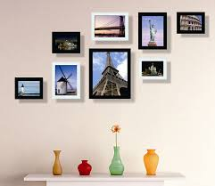 Home Decor Photo Frames Modern Wall Frames Wall Photo Frame Set Of 8pcs Home Decoration