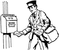 mailman coloring pages postman images free download clip art free clip art on