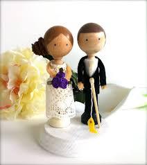 fishing themed wedding cake topper custom by creativebutterflyxox