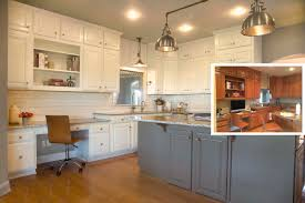 Painting Kitchen Cabinets by Before And After Painting Kitchen Cabinets Ellajanegoeppinger Com