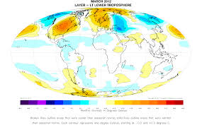 Alaska Temperature Map by Uah Global Temperature Anomaly Up In March At 0 11 C Watts Up