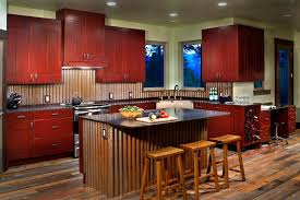 Corrugated Metal Backsplash Kitchen Modern With Reclaimed Cabinets - Corrugated metal backsplash