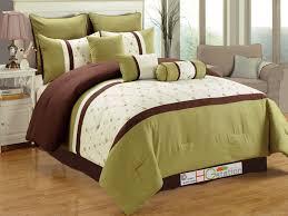 green queen comforter set sears