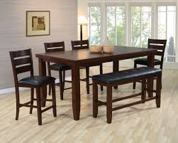 dining room set with bench etolin 6 piece dining setbench kitchen