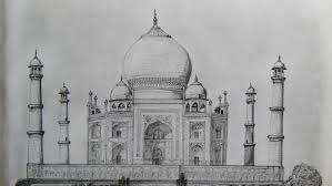 7 world wonders pencil sketches youtube