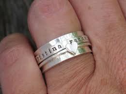 personalized ring spinner ring personalized ring sterling silver jewelry