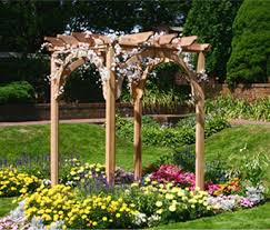 wedding arches and arbors with traditional flare create the focal point for the