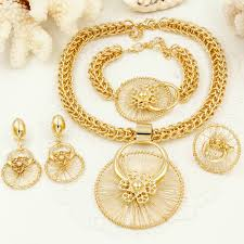 gold costume necklace images Liffly new italy fashion costume jewellery african women big jpg