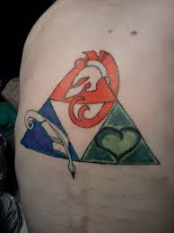 triforce tattoo by thekwinkyist on deviantart