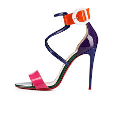 choca 100 version multi patent women shoes christian louboutin