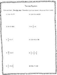 two step equations with fractions worksheet worksheets