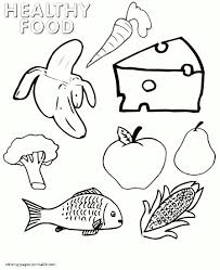 healthy food coloring pages preschool pack for a picnic coloring page keysub me