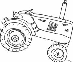 vehicle farm tractor coloring pages for kids womanmate com
