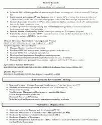 Targeted Resume Template Organizational Development Resume Sample Training And Development