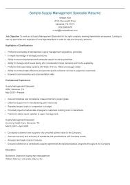 Supply Chain Management Resume Examples Resume Cv Cover Letter Sample Resume Unit Supply Specialist