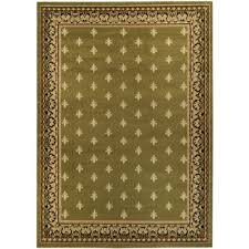 Celtic Area Rugs Ephesus Collection Green Border Area Rug 4 10 X 6 10