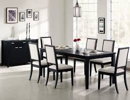 Modern Black Glass Dining Table Dining Room Luxurious Black Dining Room Sets With Cushioned