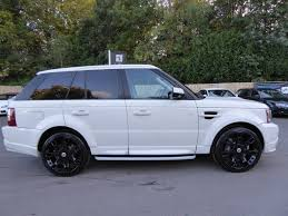 land rover sport white used 2009 land rover range rover sport tdv8 sport hse full body