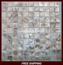 cuisine de perle mère de perle mosaïque shell carreaux de mosaïque dosseret
