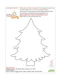 the singing christmas tree for kids coloring contest