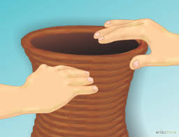 How To Make Clay Vases By Hand How To Make A Coil Flower Pot From Clay 13 Steps With Pictures