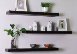 Bookshelves On The Wall Faux Leather Floating Shelves Traditional Display And Wall Latest