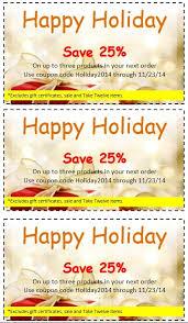 holiday coupon 7 free sample holiday discount coupon templates u2013 printable samples