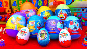 easter eggs surprises 10 eggs unboxing kinder the explorer