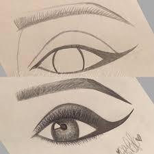 drawn eyeball artistic eye pencil and in color drawn eyeball