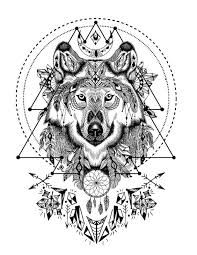 wolf face coloring page wild and free spirit animals printable coloring book page and