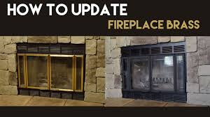 how to update fireplace brass youtube
