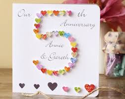 5th wedding anniversary ideas 5th anniversary card etsy