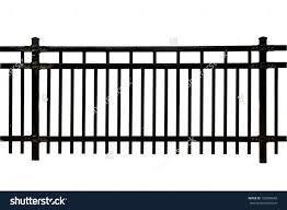 Decorative Metal Fence Panels Decoration Lovely Black Metal Fence Isolated White Stock Photo