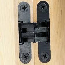 black finish soss concealed hinge wings measure 1 2