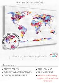 World Map Push Pin Board by Push Pin World Map Large Colourful Map Abstract World Map