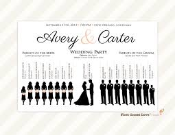 silhouette wedding program sign pdf design canvas