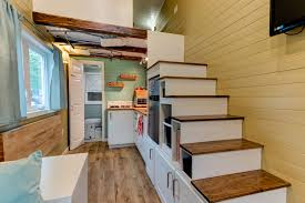 tiny homes interiors tiny house interior with storage under the staircase tiny houses