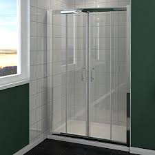 Sliding Shower Screen Doors 1300mm Chrome Sliding Shower Door Enclosure Cubicle Glass