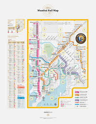 Mumbai Map Mumbai Rail Map Design Degree Show 2015